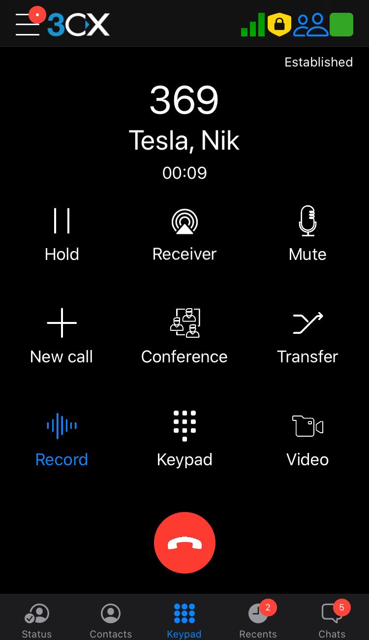 answered call 1